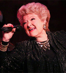 Singer Marilyn Maye performing on stage