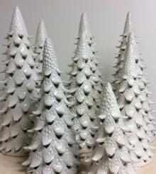 clay holiday trees