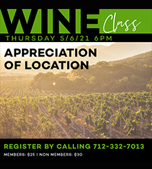 Wine Class | May | Appreciation of Location