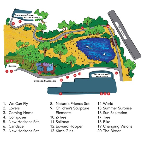 Outdoor Sculpture Trail Map